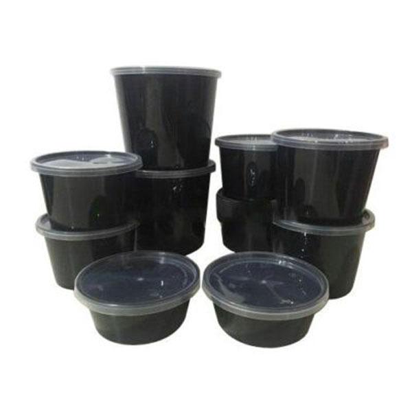 plastic container round